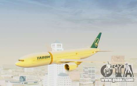 Boeing 777-200 TAROM Romania for GTA San Andreas back left view