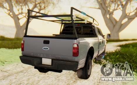 Ford F-250 XL 2002 for GTA San Andreas back left view