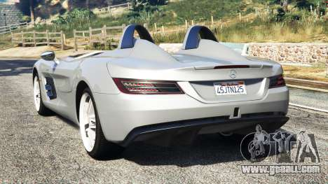 GTA 5 Mercedes-Benz SLR McLaren 2009 rear left side view