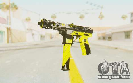 Tec-9 Neural Yellow for GTA San Andreas