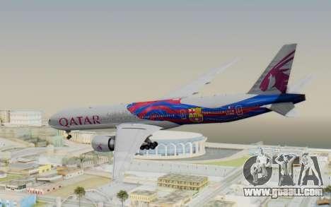 Boeing 777-300ER Qatar Airways v2 for GTA San Andreas left view
