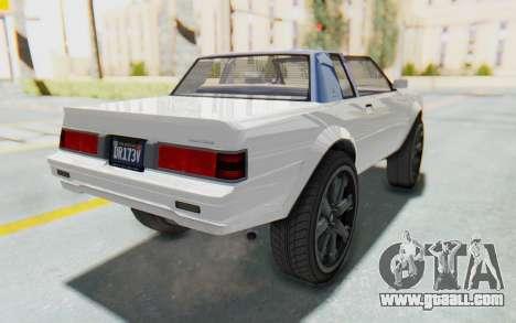 GTA 5 Willard Faction Custom Donk v2 for GTA San Andreas back left view
