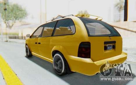 GTA 5 Vapid Minivan Custom IVF for GTA San Andreas left view