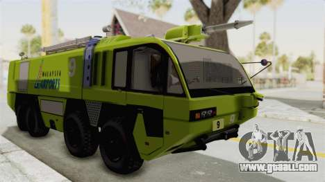Rosenbauer Panther 8x8 Malaysia Airports for GTA San Andreas back left view