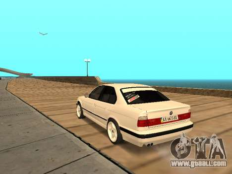 BMW E34 - EK edition for GTA San Andreas back left view
