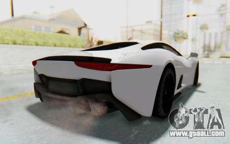 Jaguar C-X75 for GTA San Andreas back left view