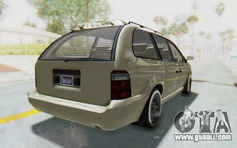GTA 5 Vapid Minivan Custom without Hydro IVF for GTA San Andreas right view