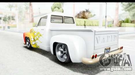 GTA 5 Vapid Slamvan without Hydro IVF for GTA San Andreas wheels