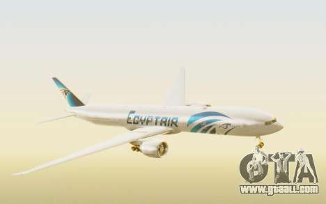 Boeing 777-300ER EgyptAir for GTA San Andreas back left view