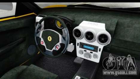 Ferrari F430 SVR for GTA San Andreas inner view