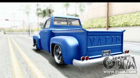 GTA 5 Vapid Slamvan without Hydro IVF for GTA San Andreas back left view