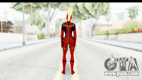 Marvel Heroes - Lady Deadpool for GTA San Andreas third screenshot