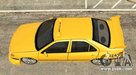 GTA 5 Taxi Peugeot 406 back view