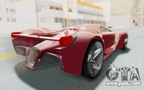 Ferrari F80 Concept for GTA San Andreas back left view