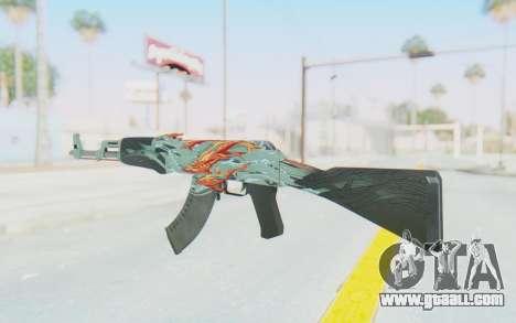CS:GO - AK-47 Aquamarine Revenge for GTA San Andreas second screenshot