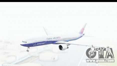 Boeing 777-300ER China Airlines Dreamliner for GTA San Andreas back left view