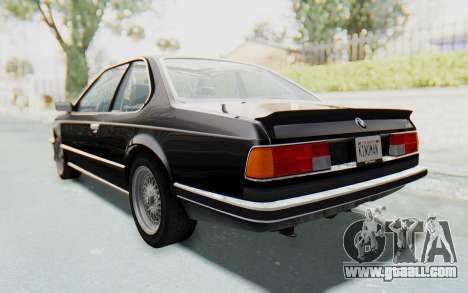 BMW M635 CSi (E24) 1984 IVF PJ3 for GTA San Andreas left view