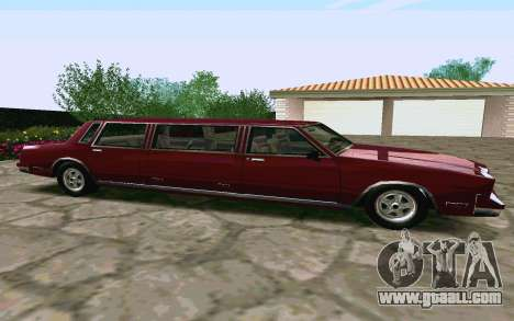 Tahoma Limousine v2.0 (HD) for GTA San Andreas left view
