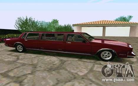 Tahoma Limousine v2.0 (HD) for GTA San Andreas left view