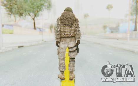 COD MW2 Ghost Sniper Desert Camo for GTA San Andreas third screenshot