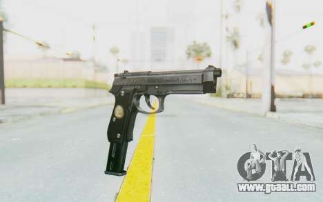 Tariq Iraqi Pistol Back v1 Silver Long Ammo for GTA San Andreas