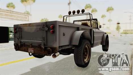 GTA 5 Canis Bodhi Trevor IVF for GTA San Andreas left view