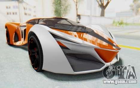 GTA 5 Grotti Prototipo v1 IVF for GTA San Andreas back left view