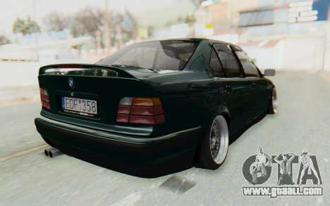 BMW 325tds E36 for GTA San Andreas back left view