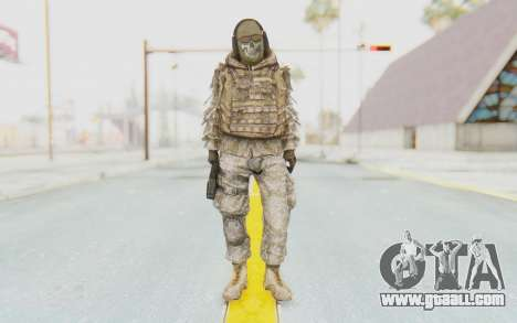 COD MW2 Ghost Sniper Desert Camo for GTA San Andreas second screenshot