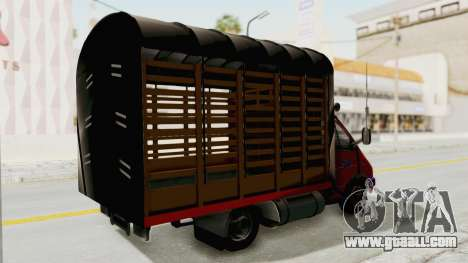 GAZelle 33021 Stylo Colombia for GTA San Andreas back left view