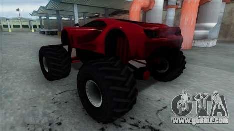 GTA V Vapid FMJ Monster Truck for GTA San Andreas back view