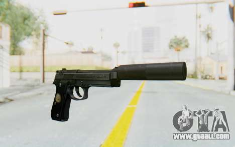 Tariq Iraqi Pistol Back v1 Black Silenced for GTA San Andreas