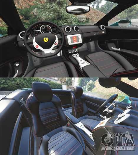 GTA 5 Ferrari California Autovista [add-on] steering wheel