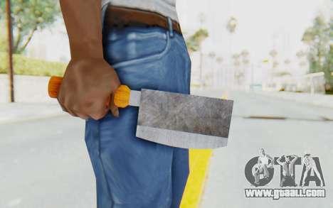 Butcher Knife for GTA San Andreas third screenshot