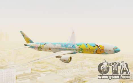 Boeing 777-300ER ANA JA754A - Peace Jet for GTA San Andreas back left view