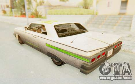 GTA 5 Declasse Voodoo PJ SA Lights for GTA San Andreas upper view