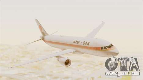 Airbus A320-200 Japanese Air Force One for GTA San Andreas back left view