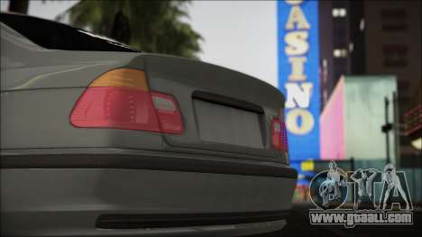 BMW E46 for GTA San Andreas back view