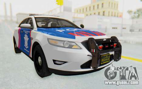 Ford Taurus Indonesian Traffic Police for GTA San Andreas back left view