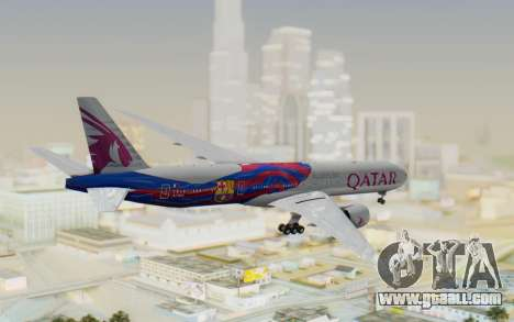 Boeing 777-300ER Qatar Airways v2 for GTA San Andreas right view