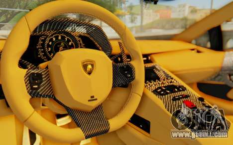 Lamborghini Aventador LP700-4 Light Tune for GTA San Andreas inner view