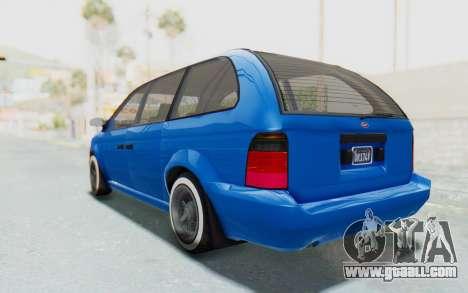 GTA 5 Vapid Minivan Custom for GTA San Andreas left view