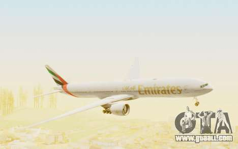 Boeing 777-300ER Emirates for GTA San Andreas