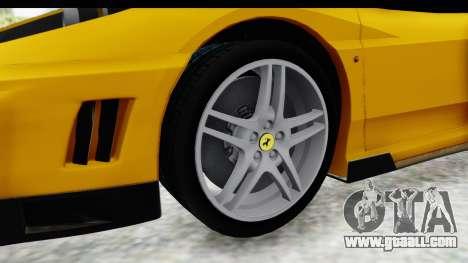 Ferrari F430 SVR for GTA San Andreas back view