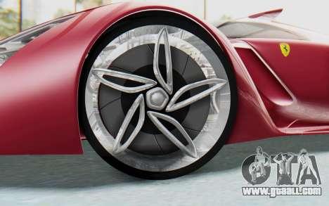 Ferrari F80 Concept for GTA San Andreas inner view
