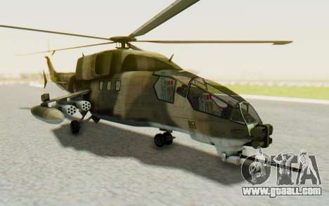 WZ-19 Attack Helicopter Asian for GTA San Andreas back left view