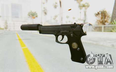 Tariq Iraqi Pistol Back v1 Black Silenced for GTA San Andreas second screenshot