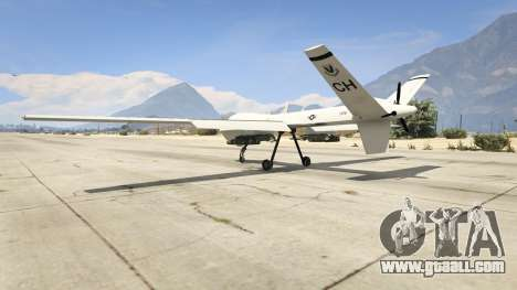 GTA 5 MQ-9 Reaper UAV 1.1 third screenshot
