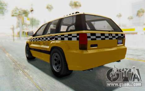 Canis Seminole Taxi for GTA San Andreas back left view