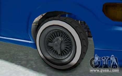 GTA 5 Vapid Minivan Custom for GTA San Andreas back view